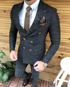 mens suits big and tall Classy Suits, Classy Style, Mens Fashion Suits, Mens Suits, Suit Men, Vintage Wedding Suits, Blazer Outfits Men, Dress Suits For Men, Designer Suits For Men