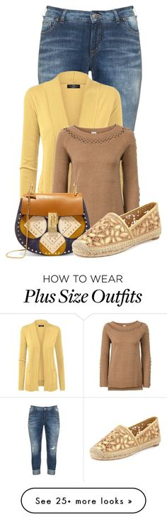 """""""Untitled #20999"""" by nanette-253 on Polyvore featuring Silver Jeans Co., Chloé and Tory Burch"""
