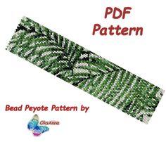 Beaded floral peyote pattern Beadweaving pattern Miyuki pattern Beadwork pattern Peyote PDF pattern Peyote stitch Seed bead bracelet pattern by OksAnnaBeadPatterns on Etsy Beaded Bracelet Patterns, Peyote Patterns, Loom Patterns, Beading Patterns, Beaded Jewelry, Peyote Beading, Beadwork, Thing 1, Seed Bead Bracelets