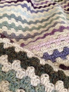 Granny stripe using Drops Alpaca - beautifully soft and very warm