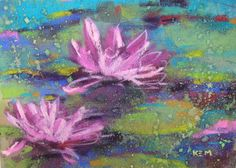 pastel paintings | Water Lily 5x7 Pastel Painting