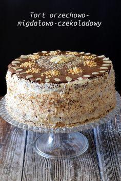 Tort orzechowo-migdałowo-czekoladowy – Smaki na talerzu