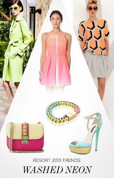 Resort 2013 Trends: Washed Neon