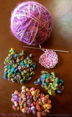 Fiber Art Reflections: Making freeform curlicue crochet sculptures