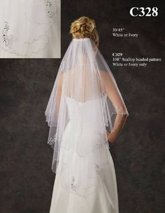 """This is the veil I ordered today from J.L. Johnson Bridal through my seamstress. Walking length (45"""") and a steal at $160!!"""