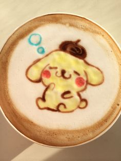 Pom Pom Purin Latte Art Kawaii food art