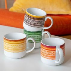 "Marius Kopp - ""Trend Green"" (enkeltvis og i - Forhåndsbestilli – Hyttefeber Icon Design, Mugs, Orange, Brown, Tableware, Cabin, Products, Dinnerware, Tumblers"