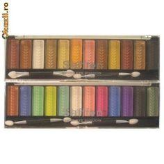 Trusa farduri 12 culori Saffron London - 20 RON  Trusa farduri 12 culori Saffron London, culori vii sau culori tomnatice. Calitate deosebita, import UK, fiecare trusa contien si cate 2 aplicatoare.   http://www.okazii.ro/make-up/farduri/trusa-farduri-12-culori-saffron-london-a113790040