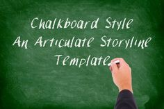 """Chalkboard Style"" is the one of our most popular Articulate Storyline templates and is perfect for the nostalgic eLearner."
