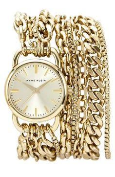 Anne Klein Multi Chain Wrap Bracelet Watch, 31mm | Nordstrom