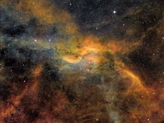 Propeller Nebula in Cygnus, also known as DWB111, on May 1, 2014.