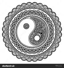 image result for yin yang coloring pages - Yin Yang Coloring Page