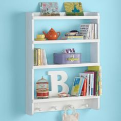 """Straight and Narrow Wall Rack (White)  
