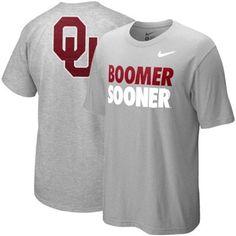 OU T-Shirt  http://www.footballfanatics.com/COLLEGE_Oklahoma_Sooners_T-Shirts_Mens/Nike_Oklahoma_Sooners_Campus_Roar_T-shirt_-_Ash
