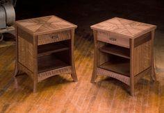 Custom Made Walnut Night Stands by Neal Barrett Woodworking Zen Furniture, Japanese Furniture, Walnut Furniture, Woodworking Furniture, Handmade Furniture, Wooden Furniture, Furniture Projects, Furniture Design, Walnut Shelves