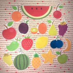 felt board fruit flannel board story felt by BusyKidActivities
