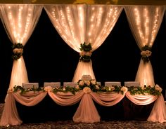pretty head table
