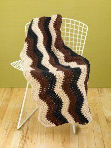 Rustic Ripple Crochet Afghan