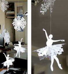\><\ Балерина-снежинка