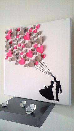 livre d'or - arbre à signatures 3d- arbre à empreintes sur une toile en coton 40x40 cm pour 60 personnes de la boutique stefebricole sur Etsy: