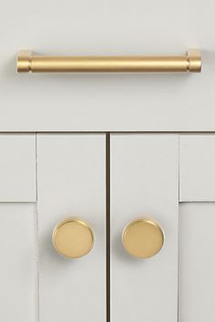 "Drawer Knob White//Polished Brass//Gold Lot of 20 1/"" Diameter Small Cabinet"