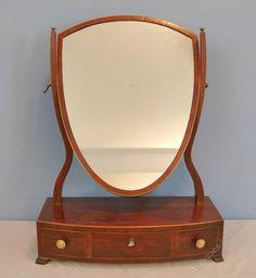 Antiques Atlas - Georgian Mahogany Dressing Mirror