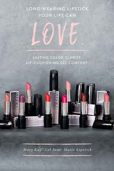 Is there anything better than waking up to new makeup? Gift a Mary Kay® Gel Semi-Matte Lipstick to a friend to make her day with rich, stay-true color that lasts for hours. Contact Me to learn more! Mary Kay Ash, Mary Mary, Mary Kay Lipstick, Mary Kay Makeup, Liquid Lipstick, Matte Lipsticks, Crazy Lipstick, Mary Kay Party, Mary Kay Cosmetics