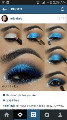 Blue eyeshadow look