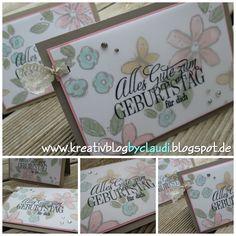 www.kreativblogbyclaudi.blogspot.de: Blumige Geburtstagsgrüße