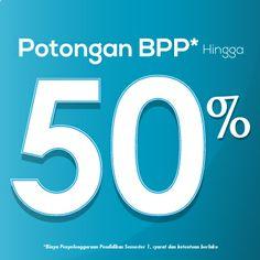 Potongan BPP hingga 50%
