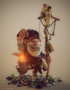 [image] Title: Gnome Name: Gustavo Groppo Country: Brazil Submitted: June 2015 Hi! Inspired by the world of Jean Baptiste Monge. Made in Zbrush, full textured in MARI and rendered in m… Zbrush, Fantasy Kunst, Fantasy Art, Character Art, Character Design, Kobold, Elves And Fairies, Fairy Art, Magical Creatures