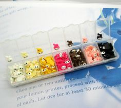1 Box Cute Resin Rabbit Flatback Cabochon Nail Art Stickers (210Pcs)