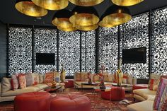 Kameha Grand hotel in Zurich, Switzerland. Architecure by tecArchitecture, and design by Marcel Wanders (via Desire to Inspire). Design Lounge, Bar Lounge, Riad Rabat, Zurich, Modern Lounge Rooms, Hookah Lounge Decor, Shisha Lounge, Top Interior Designers, Cafe Interior