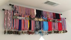 DIY Medals Rack Idea. Inexpensive Display for Medals and Ribbons