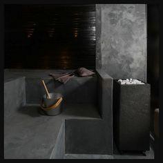Wabi Sabi Art + Design from a Scandinavian perspective Natural elegance Scandinavian modern Harmonious style Creative spaces Clever DIY Tutorial Scandinavian Modern, Wabi Sabi, Modern Saunas, Sauna Wellness, Sauna Heater, Cement, Concrete, Portable Steam Sauna, Sauna Design