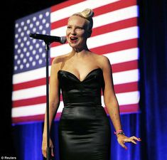 Showstopper: Sia Furler captivated the audience at the DNC's annual LGBT Gala in New York City on Tuesday with her voice and her plunging black dress