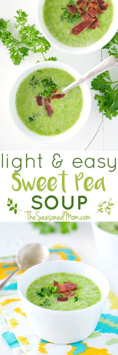 For an easy weeknight meal or a simple make-ahead lunch, your family will love this Light and Easy Sweet Pea Soup! It's a 20-minute vegan, clean eating, and healthy dinner that everyone can enjoy...and it's perfect for spring! #ad