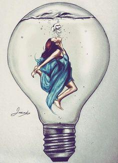 »✿❤ Mego❤✿« #art #drawings #girl #water #bulb #idea