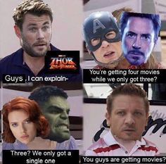 Marvel franchise has been producing the best and most viewed movies worldwide for quite long they multiple movies series here we have collected some of the top and funniest marvel memes from all random marvel movies that will surely crack you up Best M Avengers Humor, Marvel Jokes, Films Marvel, Funny Marvel Memes, Marvel Heroes, Marvel Comics, Asgard Marvel, Marvel Avengers, Spiderman Marvel
