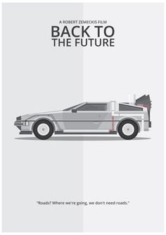 This film poster was inspired by the film Back to the Future' by the talented Robert Zemeckis. This features the iconic delorean car from all of the Back to the Future movies in the trilogy.