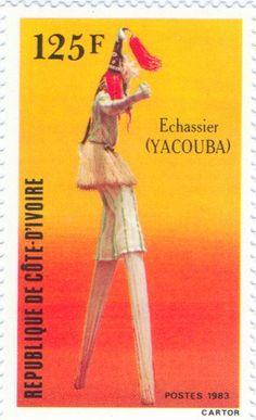 1983 Ivory Coast - Stilt dancer