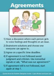 Agreements - A Positive Discipline Tool Card. I model this and teach it to preschool children but its a skills we should all have, and should be teaching our children- you can start it at any age Gentle Parenting, Kids And Parenting, Parenting Hacks, Peaceful Parenting, Parenting Classes, Parenting Plan, Parenting Workshop, Mindful Parenting, Natural Parenting