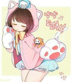 Frans Undertale, Anime Undertale, Undertale Drawings, Undertale Cute, Frisk Fanart, Undertale Cosplay, Illustration Kawaii, Sans E Frisk, Cute Chibi