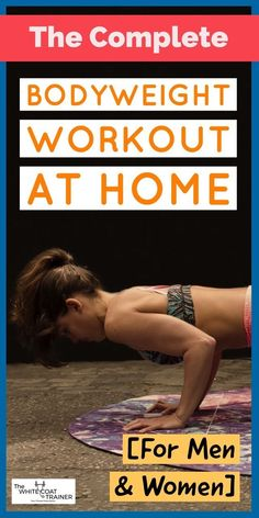 Check out this comprehensive bodyweight workout at home! #workoutathome #athomeworkout #bodyweightworkout #bodyweightexercises Best At Home Workout, Cardio Workout At Home, At Home Workouts, Workout Plans, Weight Exercises, Spartan Workout, Leg Workouts, Spartan Race, Workout Exercises