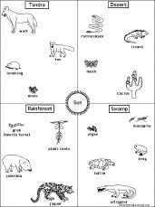 A Food Chain Puzzle | Animals in Winter: The Mitten | Pinterest ...