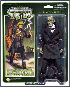 Lincolnstein from Presidential Monsters - Basic Series manufactured by Heroes in Action [Front]