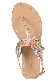 pink multi joan scarf embellished sandal - maurices.com