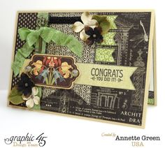 Try Annette's tutorial for this Artisan Style graduation card! #graphic45