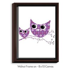 DiaNocheDesigns 'Owl Argyle' by Susie Kunzelman Graphic Art on Wrapped Framed Canvas