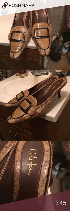 Cole Haan shoes They are pre owned in great condition!! Minor signs of wear!!! A great Mule!!!! Cole Haan Shoes Mules & Clogs